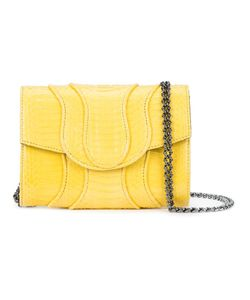 KHIRMA ELIAZOV | Chain Strap Cross-Body Bag Watersnake Skin/Suede