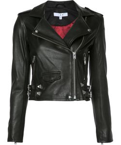 Iro | Cropped Biker Jacket 38 Polyester/Lamb Skin