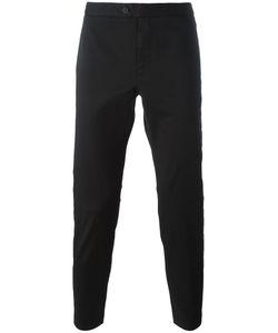 PALM ANGELS | Stripe Appliqué Trousers 46 Cotton/Polyurethane