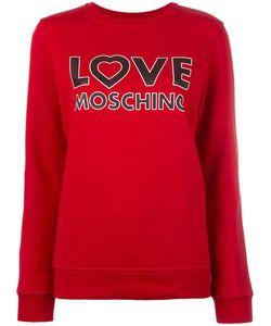 Love Moschino   Logo Print Sweatshirt 44 Cotton