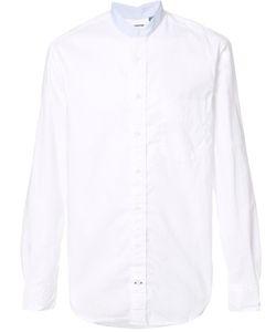 Gitman Vintage | Banded Collar Shirt Small Cotton
