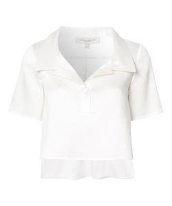 Carolina Herrera   Shortsleeved Cropped Shirt 2 Silk/Cotton