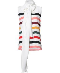 Carolina Herrera   Striped Sleeveless Blouse 4 Silk