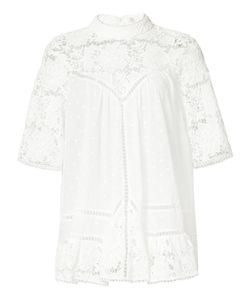 Zimmermann | Embroidered Detail Blouse Xs Cotton
