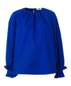 Fendi   Ruffled Oversized Blouse 40 Cotton