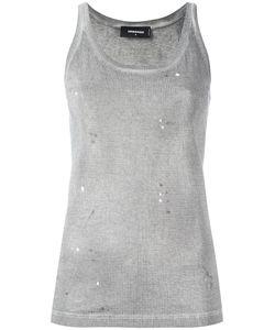 Dsquared2 | Microstudded Tank Top Medium Cotton/Aluminium