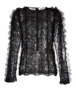 Givenchy | Ruffled Lace Long Sleeve Top 40 Polyamide/Viscose