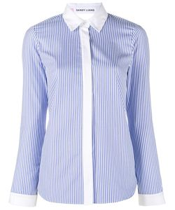 Sandy Liang | Striped Enzo Shirt Womens Size 38 Cotton