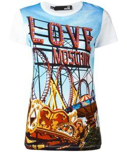 Love Moschino   Fun Fair Printed T-Shirt 40 Cotton