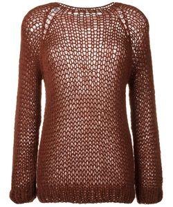 MAIAMI   Marsala Knitted Top Medium Mohair/Merino/Polyamide