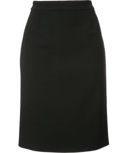 Carolina Herrera | Straight Skirt 12 Cotton/Virgin Wool