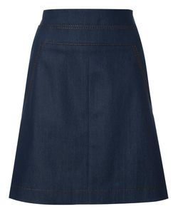 Akris Punto | A-Line Denim Skirt 12 Cotton