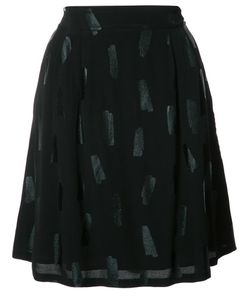 Just Female | Tonal Print A-Line Skirt Medium Viscose