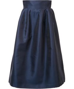 Carolina Herrera | High-Rise Full Skirt 8 Silk/Cotton