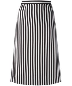 Marc Jacobs | Monochrome Striped A-Line Skirt 2 Triacetate/Polyester