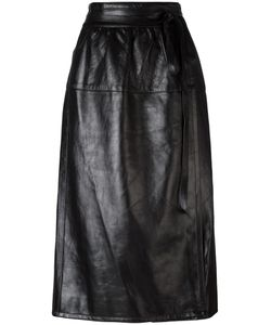 Marc Jacobs | Wrap-Style Leather Skirt 4 Lamb Skin/Bemberg