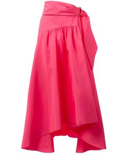 Peter Pilotto | Asymmetric Taffeta Midi Skirt 8 Cotton/Polyester