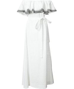 Lisa Marie Fernandez | Off-Shoulders Belted Dress Size 2 Cotton