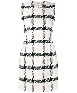 Alexander McQueen | Houndstooth Mini Dress 40 Cotton/Silk/Linen/Flax