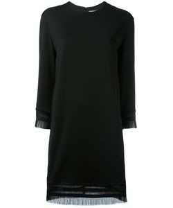 DKNY | Fringed Shift Dress 2 Viscose/Wool/Spandex/Elastane