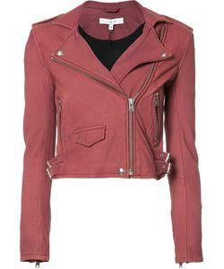Iro | Cropped Biker Jacket Size 38 Rayon/Polyester/Lamb Skin