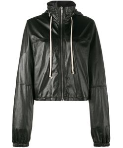 Rick Owens | Cropped Windbreaker 42 Cupro/Leather/Cotton