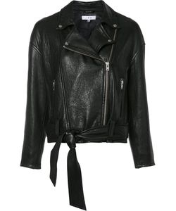 Iro | Belted Biker Jacket 34 Nylon/Acetate/Lamb Skin