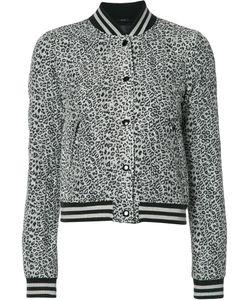 R13   Leopard Print Jacket Small Viscose/Silk
