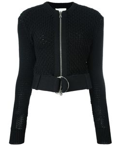 3.1 Phillip Lim | Belted Crochet Jacket Small Cotton/Polyamide