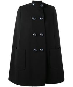 Alexander McQueen | Embellished-Button Cape 40 Wool/Silk/Cupro