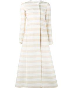 Emilia Wickstead | Striped Domenique Coat 10 Wool/Polyamide/Virgin Wool/Silk