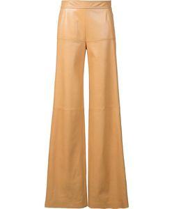 Derek Lam | High Waist Leather Trousers 36 Lamb
