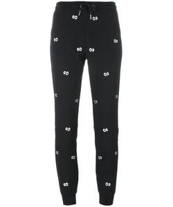 Zoe Karssen | Eyes Embroidery Sweatpants Xs Polyester/Viscose/Spandex/Elastane
