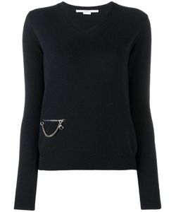 Stella Mccartney | Chain Pocket Jumper 42 Wool/Viscose/Brass/Polyester