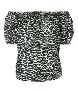 Piamita | Off-Shoulders Leopard Print Blouse Xs Silk