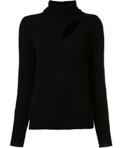 A.L.C. | Cut-Off Detailing Turtleneck Jumper Medium Wool/Cashmere