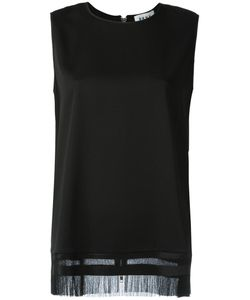 DKNY | Fringed Tank Top Medium Viscose/Wool/Spandex/Elastane