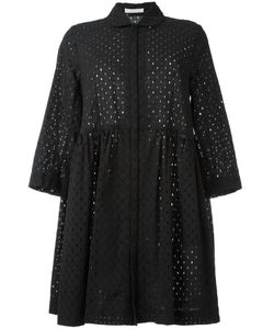 Peter Jensen   Broderie Anglaise Smock Dress Small Cotton