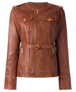 Michael Michael Kors | -Pocket Zipped Jacket Medium Lamb