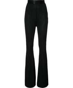 Ellery | Ribbed Flared Trousers Medium Rayon