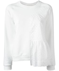 Peter Jensen | Ruffle Panel Sweatshirt Xs Cotton/Spandex/Elastane
