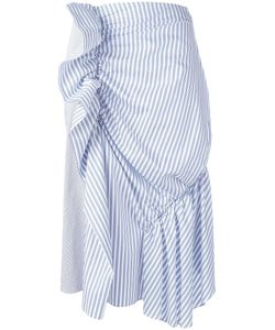 J.W. Anderson | J.W.Anderson Gathered Striped Skirt 12 Cotton/Polyamide/Spandex/Elastane