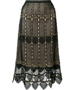 Kobi Halperin | Beaded Lace Skirt 10 Polyester/Spandex/Elastane