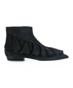 J.W. Anderson | J.W.Anderson Ruffle Boots 38 Leather/Suede