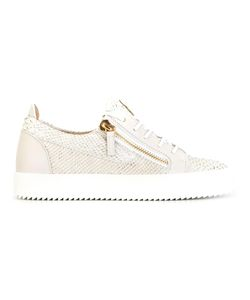 Giuseppe Zanotti Design | Snakeskin Effect Sneakers 36 Leather/Rubber