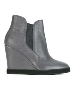 Santoni | Wedge Ankle Boots 39.5 Nappa Leather/Leather/Rubber