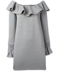 Opening Ceremony | Ruffled Neckline Dress Xs Cotton/Spandex/Elastane