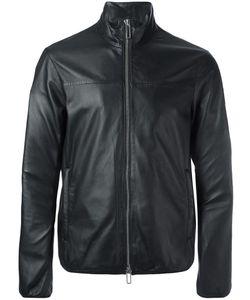 Emporio Armani | Zip Up Biker Jacket Small Lamb