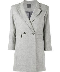 Lot 78 | Lot78 Three-Quarters Sleeve Blazer 40 Viscose/Wool/Polyester