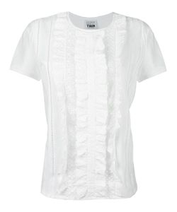 Twin-set | Eyelet Lace T-Shirt Small Cotton
